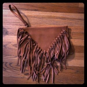 Sole Society Fringe Clutch